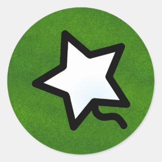 P. Quinstar round Classic Round Sticker
