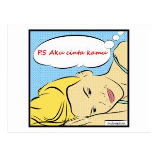 P S Aku Cinta Kamu Postcard