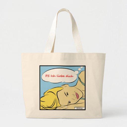 P.S Ich liebe dich Canvas Bags