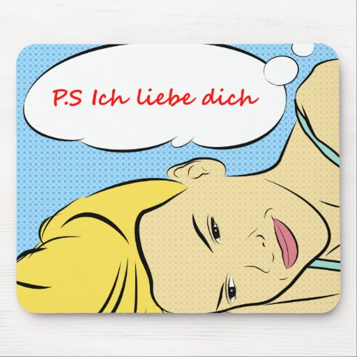P.S Ich liebe dich Mouse pad