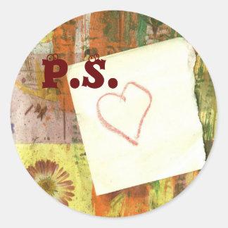 P.S. Love Round Sticker