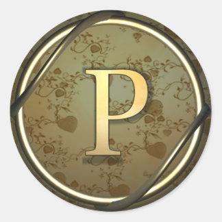 p round sticker