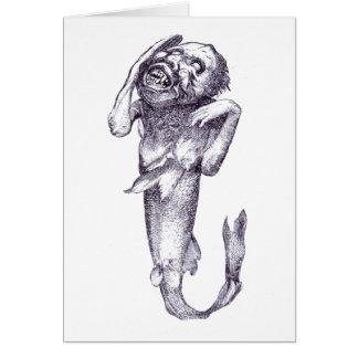 P. T. Barnums Fiji Mermaid Card