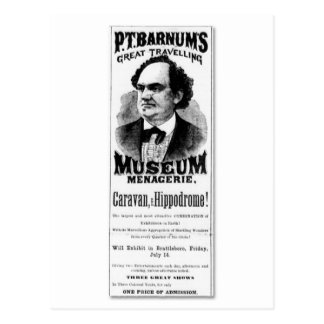 P.T. Barnum's Great Travelling Museum Menagerie Postcard