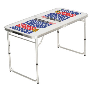 P.T.S.D. Trump (light) Beer Pong Table