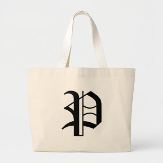 P-text Old English Large Tote Bag