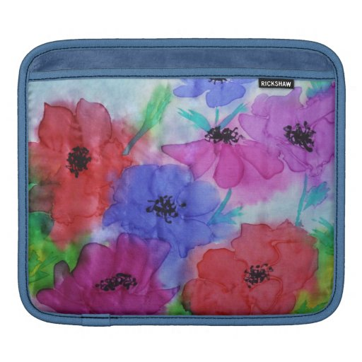 ©  P Wherrell Beautiful Fine Art painting anemones Sleeves For iPads