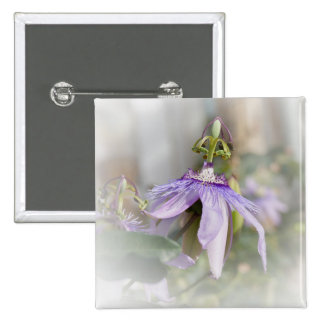 © P Wherrell Beautiful pale purple passion flower Pinback Button
