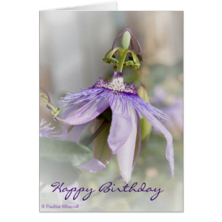 © P Wherrell Beautiful pale purple passion flower Greeting Card