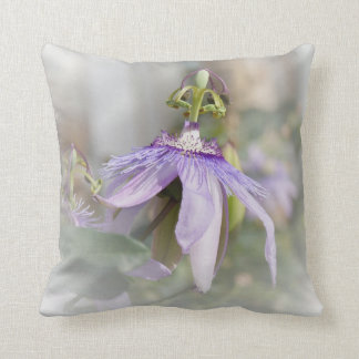 © P Wherrell Beautiful pale purple passion flower Throw Cushions