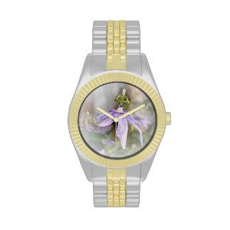 © P Wherrell Beautiful pale purple passion flower Wristwatch
