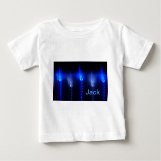 © P Wherrell Blue abstract baby clothing Tshirts