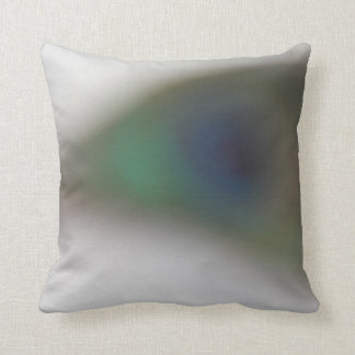 © P Wherrell  Contemporary abstract peacock face Cushion