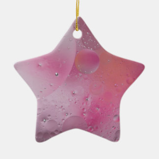 © P Wherrell Contemporary pink circles abstract Ceramic Star Decoration