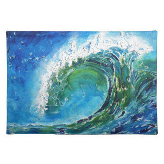 © P Wherrell Fine art oil painting wave ocean sea Placemat