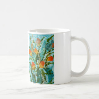 © P Wherrell Fine art painting spring tulips Basic White Mug