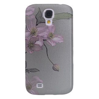© P Wherrell Gorgeous stylish pale pink clematis Galaxy S4 Covers