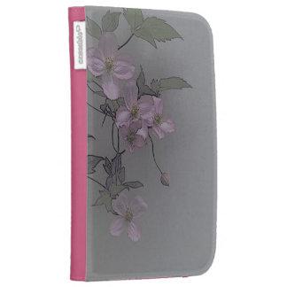 © P Wherrell Gorgeous stylish pale pink clematis Kindle Folio Case