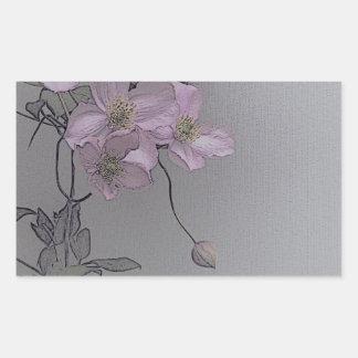 © P Wherrell Gorgeous stylish pale pink clematis Rectangular Sticker