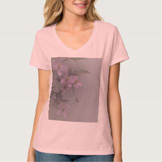 © P Wherrell Gorgeous stylish pale pink clematis Tee Shirt