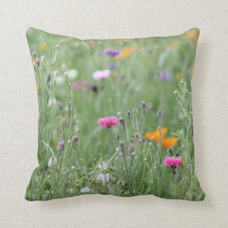 © P Wherrell Pretty wild flower meadow field Cushion
