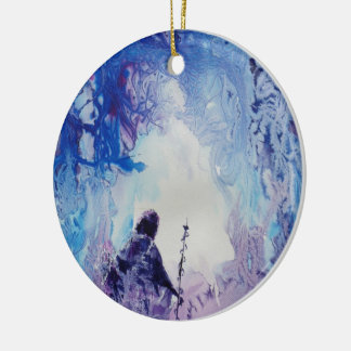© P Wherrell Special light spiritual landscape Christmas Ornament