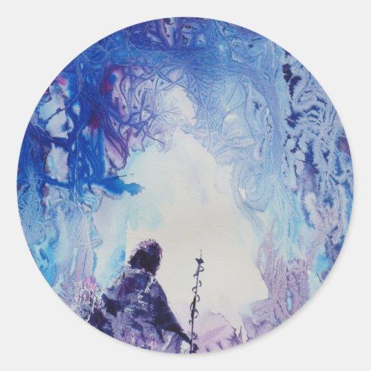 © P Wherrell Special light spiritual landscape Classic Round Sticker
