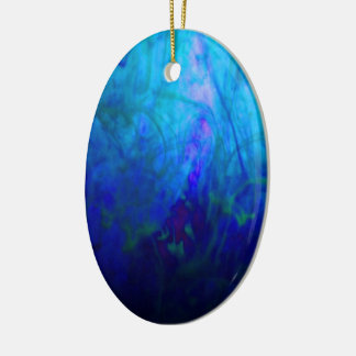 © P Wherrell Summer dreams impressionist photo Double-Sided Oval Ceramic Christmas Ornament