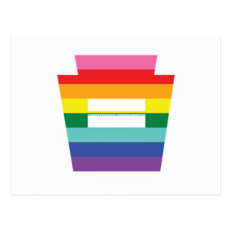PA Keystone Marriage Equality Rainbow Graphic Postcard