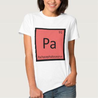 Pa - Pachycephalosaurus Dinosaur Chemistry Symbol Tee Shirts