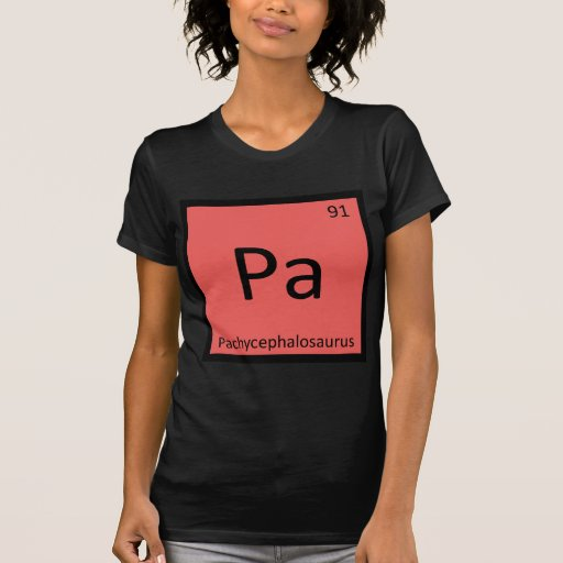 Pa - Pachycephalosaurus Dinosaur Chemistry Symbol Tshirts
