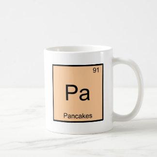 Pa - Pancakes Funny Chemistry Element Symbol Tee Basic White Mug