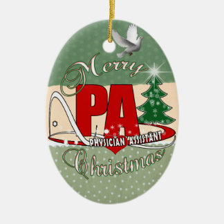 PA PHYSICIAN  ASSISTANT MERRY CHRISTMAS CHRISTMAS ORNAMENT