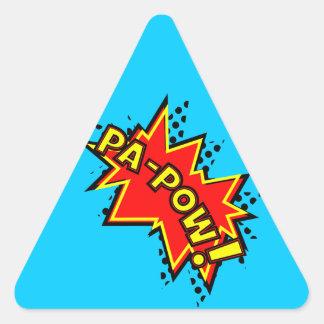 Pa-Pow! Triangle Sticker