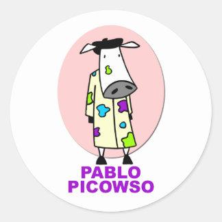Pablo Picowso Round Sticker