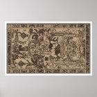 Pacal's Sarcophagus - Ancient Mayan Carving Poster