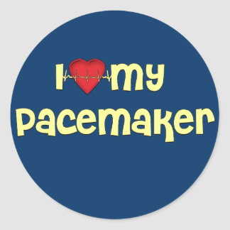 Pacemaker T-shirts | Get Well Gifts Classic Round Sticker