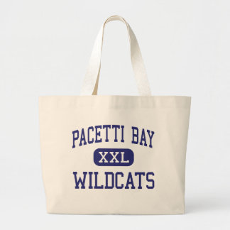 Pacetti Bay Wildcats Middle Saint Augustine Large Tote Bag