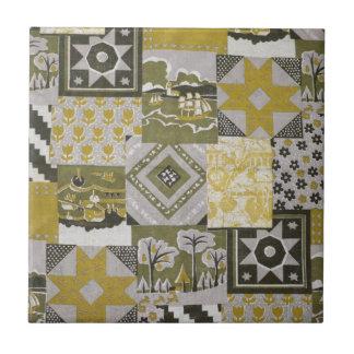 Pachwork Quilt Ceramic Tile