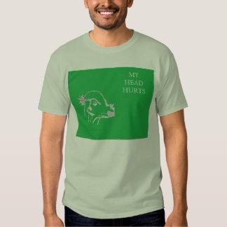 pachycephalosaurus has a headache tshirt