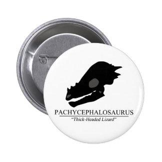 Pachycephalosaurus Skull 6 Cm Round Badge