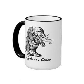 Pachyderm s Canon Violin playing Elephant Fiddle Coffee Mug