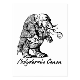 Pachyderm's Canon Violin playing Elephant Fiddle Postcard