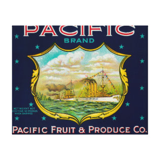 Pacific Apple Crate Label Canvas Print