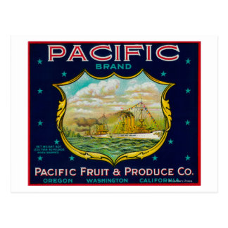 Pacific Apple Crate Label Postcard