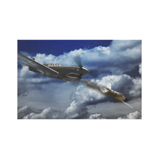 Pacific Battle Stretched Canvas Print
