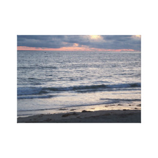 Pacific Beach At Sunset Canvas Print
