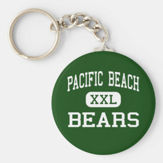 Pacific Beach - Bears - High - San Luis Obispo Basic Round Button Key Ring
