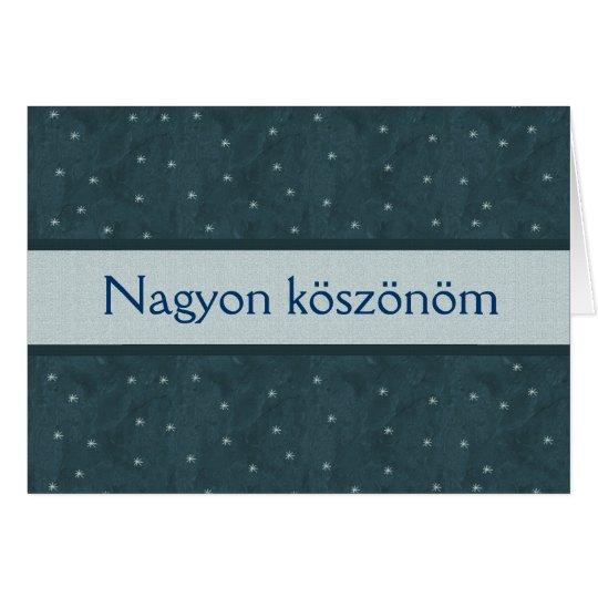 PACIFIC BLUE - Nagyon köszönöm with Stars Card