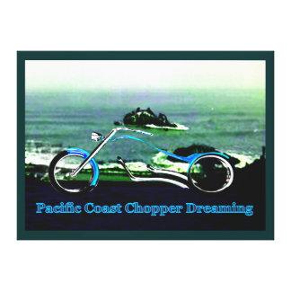Pacific Coast Chopper Dreaming 1986 The MUSEUM Zaz Gallery Wrap Canvas